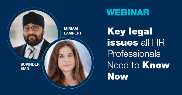 Key Legal Issues all HR Professionals Need to Know Now