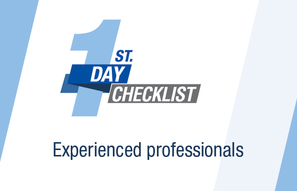 The first day: a guide for experienced professionals