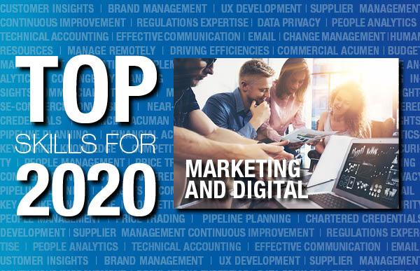 Marketing and digital top skills